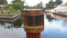 Rare Brass English Trawler Port Sidelight Ship's Lantern