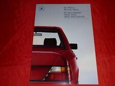 MERCEDES W124 Limousinen 200 D 250 D 300 D 300 D 4MATIC Prospekt von 1986