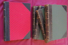 1895 ITALY FLORA -  2 Botany works - Rare 1st editions - 5 vols. ITALIA BOTANICA