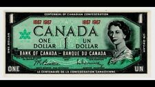 Canada One Dollar $1 (1867-1967) WITHOUT SERIAL - Banknote  Bill FINE