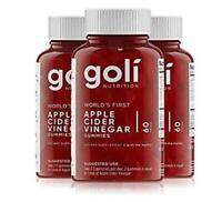 Goli ACV Apple Cider Vinegar Gummies (3 Months Supply) Natural Organic Vegan