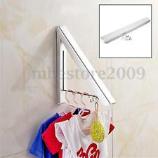 Stainless Folding Wall Hanger Mount Retractable Clothes Indoor Towel Hanger