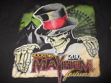 2010 MAYHEM FESTIVAL (MED) T-Shirt KORN LAMB OF GOD ROB ZOMBIE AVENGED SEVENFOLD