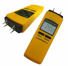 CE APPROVED 4 PIN DIGITAL MOISTURE METER DAMP DETECTOR TESTER 12 MONTHS WARRANTY