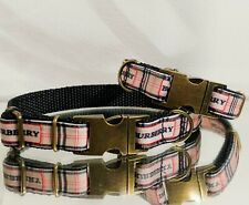 Teenie Bean London Bronze METAL BUCKLE Dog Collar XS/S 8.5-11.5 in.Neck 🐩🇬🇧