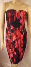 NEW City Chic Sexy Strapless Stripe Rose Party Print Dress Plus Size M 18  # O33