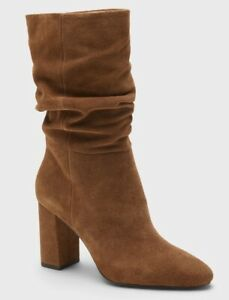 Banana Republic-Midshaft Suede Slouchy Boot- Women's Size 7- Color:Nutmeg-NEW!!