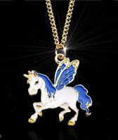 HORSE & WESTERN JEWELLERY JEWELRY GIRLS FANTASY UNICORN NECKLACE GOLD