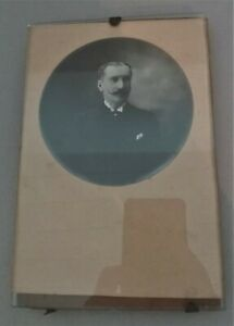 Photo Antique And Holder Photo Glass 1900
