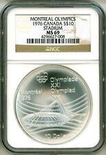 1976 S$10 Canada Montreal Olympics Stadium NGC MS69
