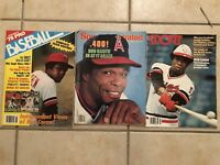 1977 Sport Magazine ROD CAREW Minnesota Twins ANGELS Lot of 3 Issues NO LABELS