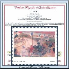 2006 Italia Repubblica Targa Florio Varietà senza rosso scritte e righe Cert. **
