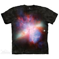 Starburst Galaxy Messier 82 T-Shirt by The Mountain. Space Rainbow S-5XL NEW