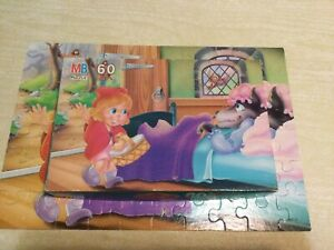 Milton Bradley Storybook Puzzle Little Red Riding Hood  60 pc COMPLETE