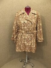 Walk Your Talk! NEW Womens Plus Sz 3X Leopard Cheetah Faux Suede Trench Peacoat