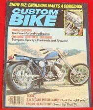 Custom Bike Magazine, December 1979 Near Mint Condition