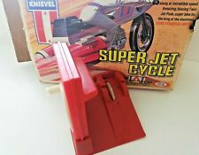 Vintage Evel Knievel Red Stunt Cycle Launcher/Charger/Energizer: Ideal 1973