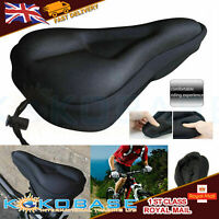 UK Bike EXTRA Comfort Soft Gel Pad Comfy Cushion Saddle Seat Cover Bicycle Cycle