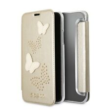 Genuine GUESS Studs & Sparkle Book Case with Card Slots for iPhone 8 & iPhone 7