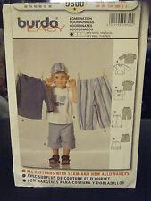 Burda 9800 Infant & Toddler Boy's Shirts & Pants Pattern - Size 6 Months to 3