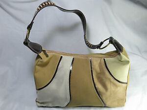 NEW Handbag Shoulder Type. Multi Tone Color Material Synthetic & Fabric