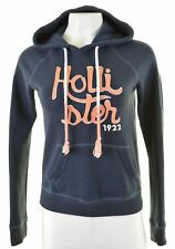 HOLLISTER Womens Hoodie Jumper Size 6 XS Blue Cotton  L207