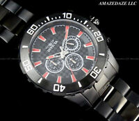 NEW Invicta Men 50mm Prodiver Chronograph Stainless Steel BLACK DIAL 200M Watch