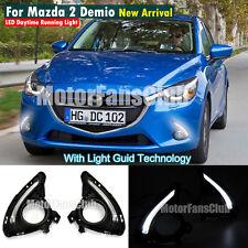 New LED Daytime Running Light For Mazda 2 Demio Fog Lamp DRL 2015 2016 #ZGD