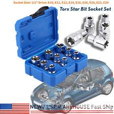 PRO 9pcs/set 1/2'' Female Torx E-TRX Star Socket Set E10- E24 Torx Socket