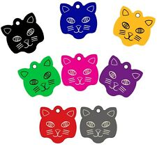 Cat Face Shape Pet Id Tags, Dog Tags, Cat Tags (Premium Aluminum)
