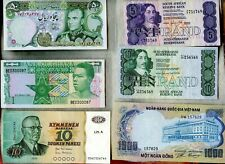WORLD NOTE COLLECTION ~ MANY NICE NOTES HERE ~ VF to CU ~ 37 NOTES