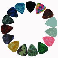100pcs Medium 0.71mm Blank Guitar Picks Plectrums Celluloid Assorted Colors