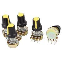 5pcs 50K OHM 3 Terminals Linear Taper Rotary B Type Potentiometer Pot G3P7