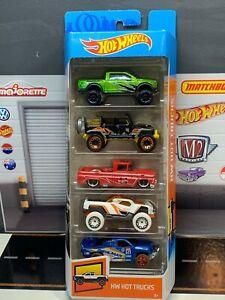 Hot Wheels HW Hot Trucks 5 Pack Custom '62 Chevy F150 Raptor Jeep Wrangler VHTF