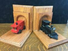 Vintage Handcrafted Wooden Colorado & Southern Railway Bookends Railroad Train