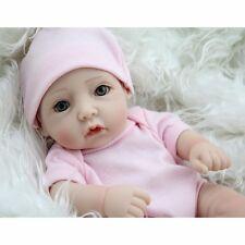 "10""Handmade Real Looking Newborn Baby Vinyl Silicone Realistic Reborn Dolls Girl"