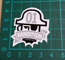 BANDIT1SM STICKER-123 Klan-Bandit1$M-4x4cm-STREET ART-PEGATINA-DECAL- GRAFFITI