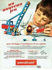 Publicité Advertising 099  1969   PLasticant  Delacoste   jeux jouets