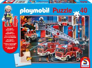 PLAYMOBIL® - FEUERWEHR - Schmidt Puzzle 56380 + Feuerwehrmann-Figur! - 40 Pcs.