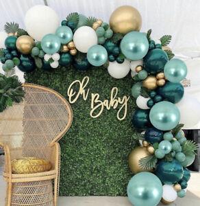 180Pcs Green Gold Balloon Arch Garland Wedding Birthday Party Baby Shower Decor