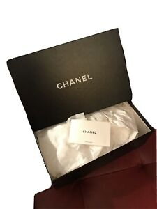 """Authentic Chanel Shoe Box With Original Tissue (empty-box only) 12""""x 8,5""""x 4"""""""