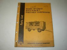 Gardner Denver SP-1200-D Rota-Screw Air Compressor Parts Manual