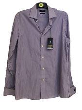 BNWT Next Slim Fit Purple & White Stripe Shirt 16.5 Inch Collar