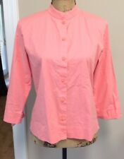 Eileen Fisher Women's Coral Pink Tunic Button Down Blouse Sz S