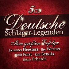 CD Deutsche Schlager Legenden von Various Artists 5CDs