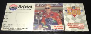 VINTAGE NASCAR BRISTOL 4/11 1999 FOOD CITY 500 TICKET STUB RUSTY WALLACE WIN