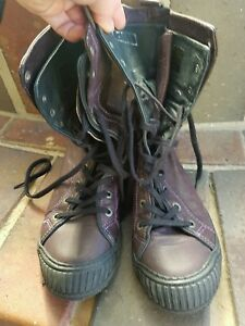 Pataugas boots aubergine sz 37 NEW