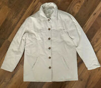 ORVIS Jacket Size Medium CREAM | Warm Button Up Winter Smart Casual Work Quilted