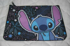 Cute Loungefly Disney Lilo & Stitch Zippered Pouch Make Up Bag Black Leaves
