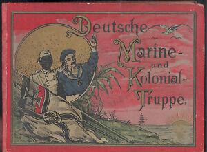 Deutsche Marine und Kolonial Truppe 25 tavole 17,5 X 13